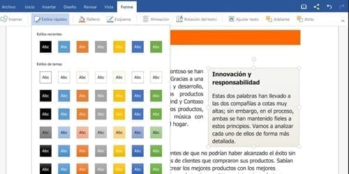 Microsoft Office 365 Word edición